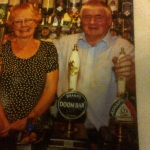 James & Gwen Wallace, former owners of Leather Bottle in Blackmore